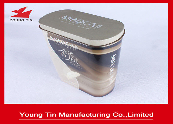 Large Oval Gifts Packaging Tin Box Colorful  CMYK Printed Shiny Finish Outside