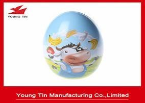 Easter Holiday Gift Packaging Egg Tin Box , Custom Printed Easter Egg Cake Tin